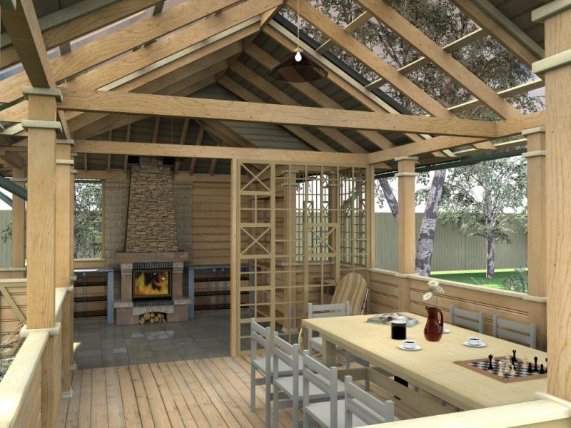 строительство беседок и летних кухонь