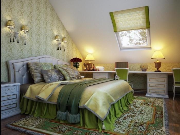 Дизайн спальни с потолком из гипсокартона фото