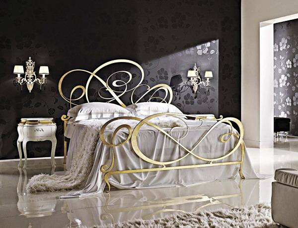 Кованная кровать дизайн спальни