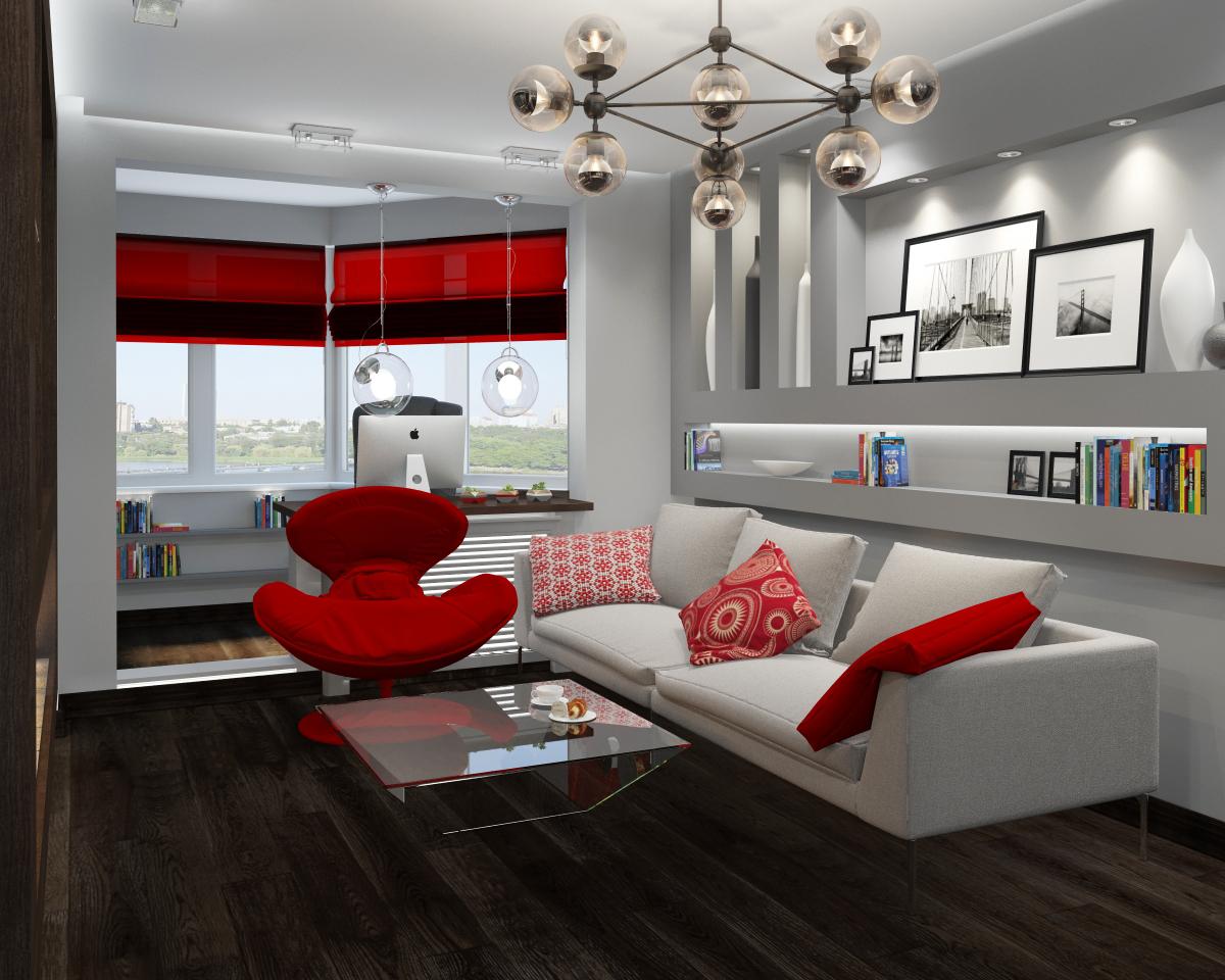 Совмещение лоджии с комнатой: фото дизайна интерьера.