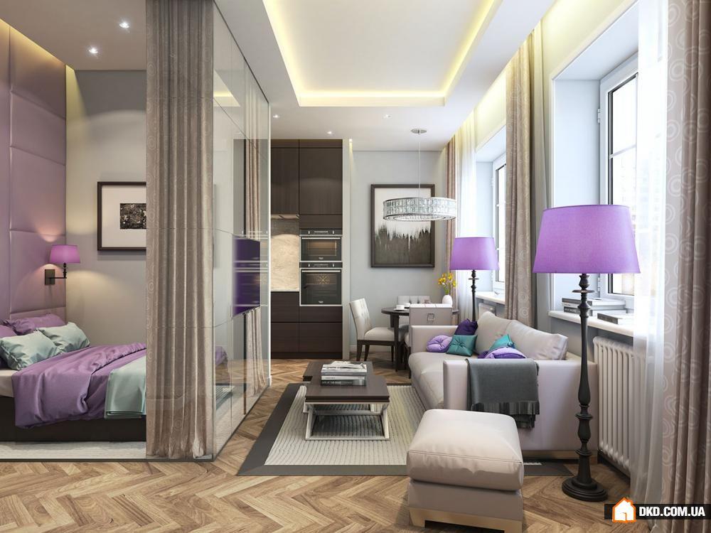 Дизайн интерьера 1-комнатной квартиры 37 кв. метров