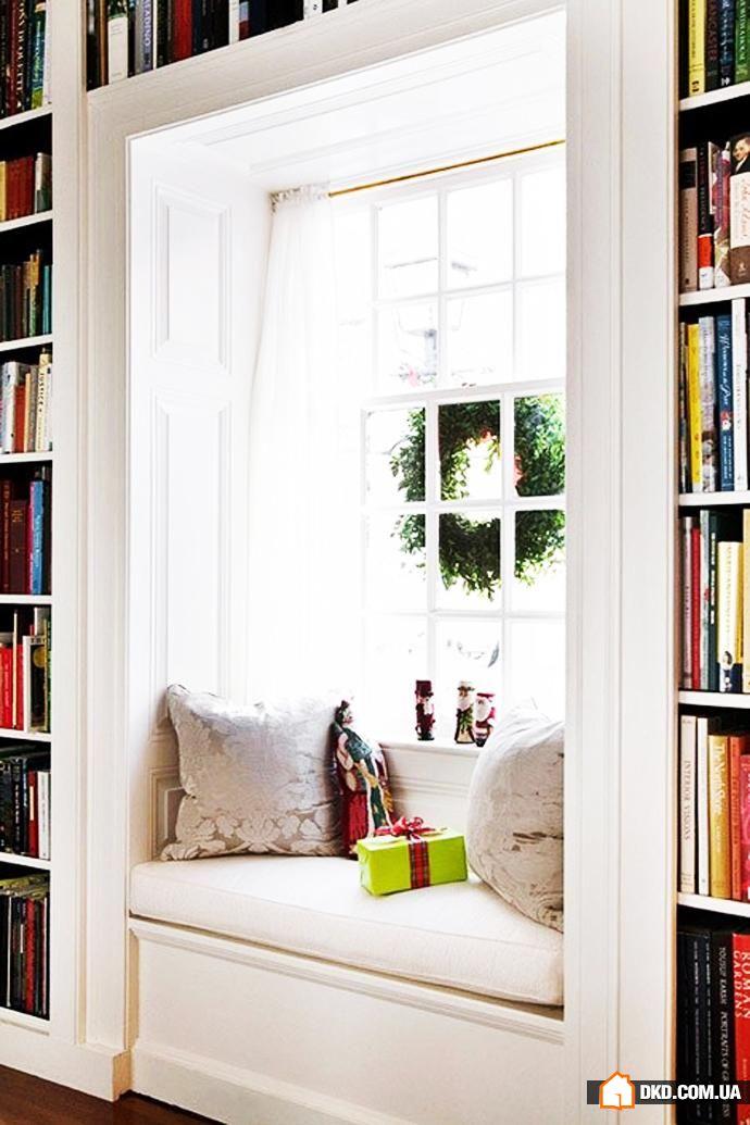Подоконник - уютное место для отдыха.... / интерьер / шкафы,.
