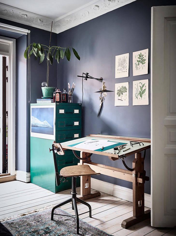 Творческий интерьер в Швеции (76 кв. м)