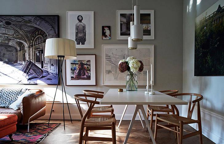 Квартира почитателей искусства в Стокгольме (94 кв. м)