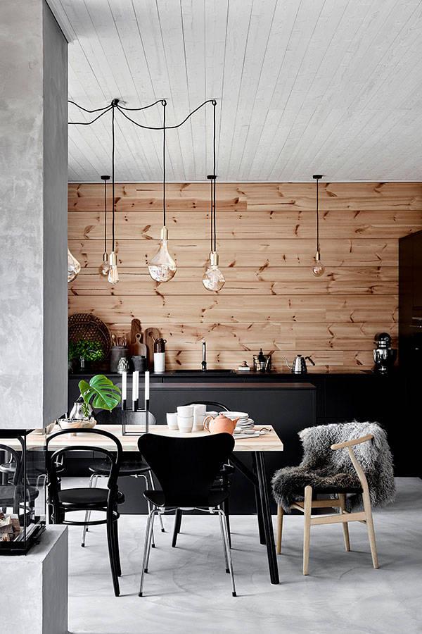 Чисто скандинавский деревянный дом в Финляндии
