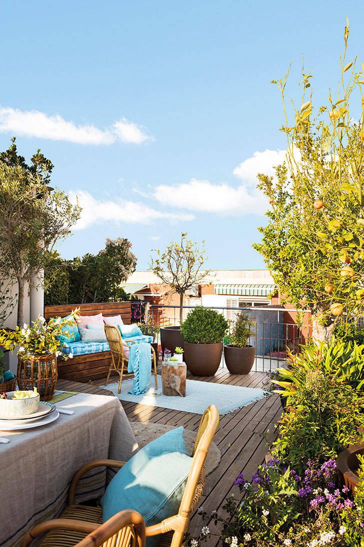 Собственный сад на крыше: великолепная квартира с террасой в Барселоне