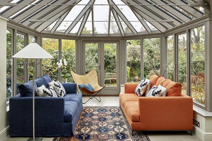 Апартаменты с уютным зимним садом в Лондоне