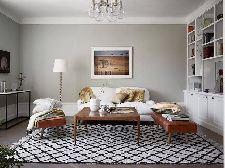 Квартира в приятных пастельный тонах в Швеции (99 кв. м)