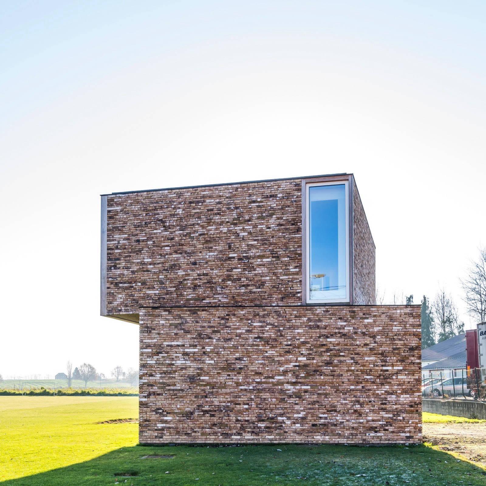 Дом с кирпичной кладкой в Бельгии