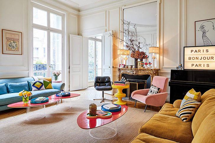 Красочная квартира арт-директора в Париже