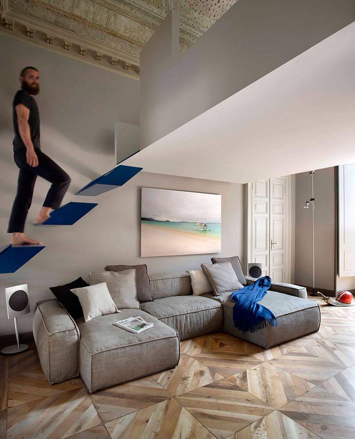 Интересные архитектурные решения в старом доме в Турине
