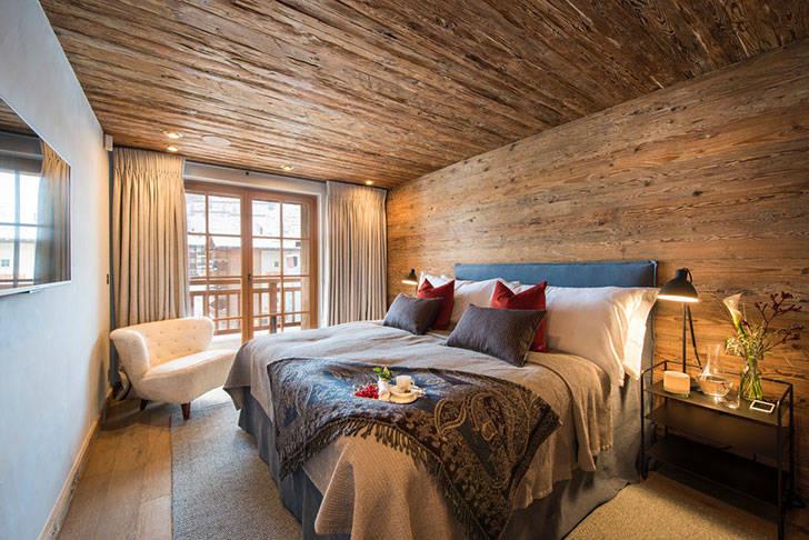 Швейцарское шале со стильными и уютными интерьерами