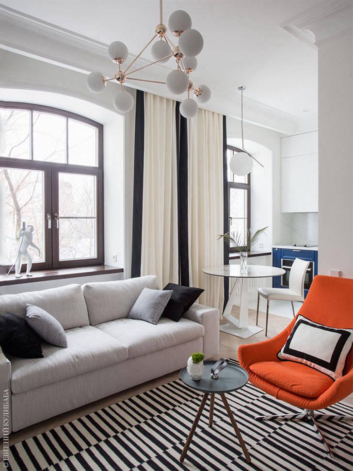 Стильный минимализм в небольшой квартире (44 кв. м)