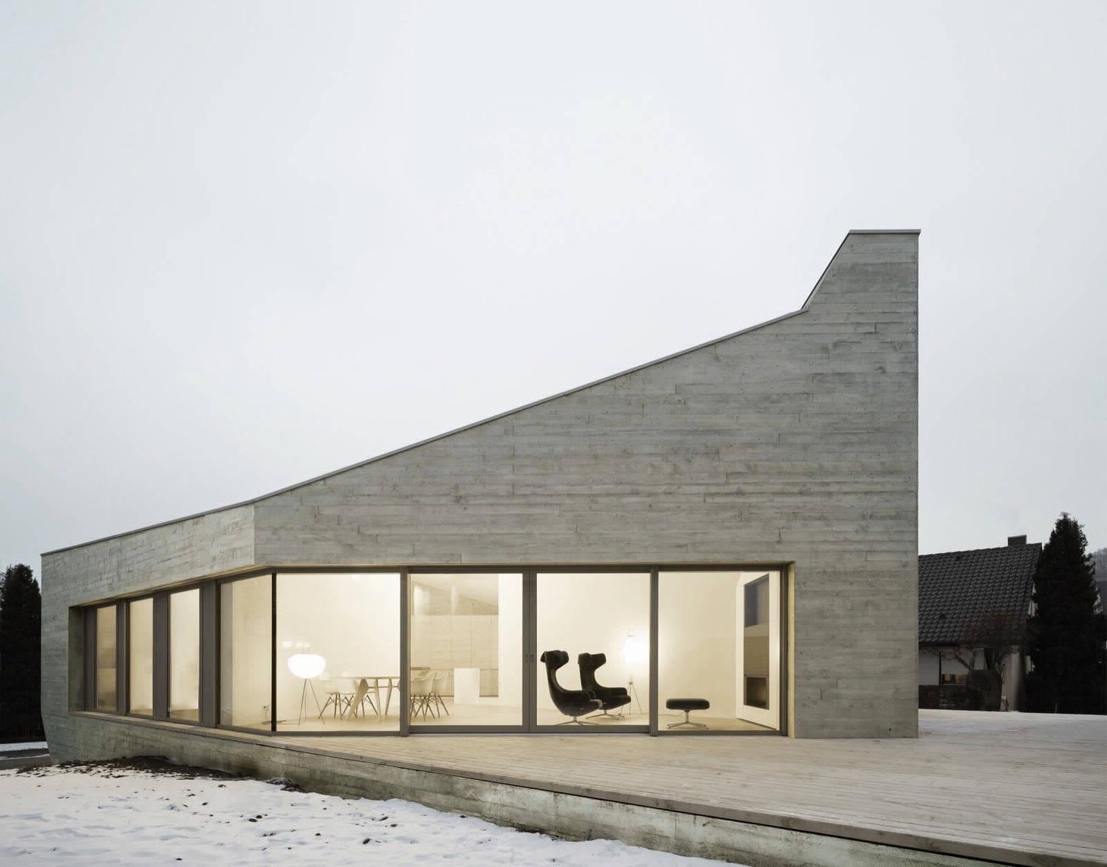 Увлекательная геометрия частного дома в Германии