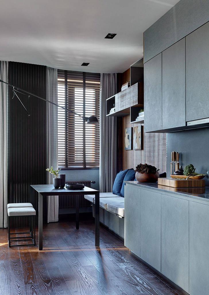 Мужская квартира в красивой темной гамме (108 кв. м)