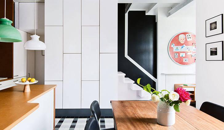Цветная ностальгия: ретро квартира в Париже