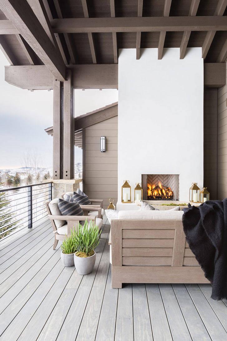 Безупречный дизайн горного дома в штате Юта