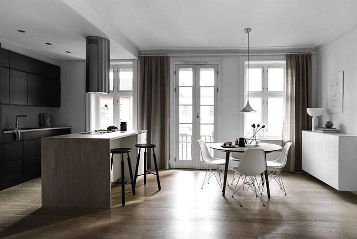 Минимализм и серый цвет в квартире в Осло