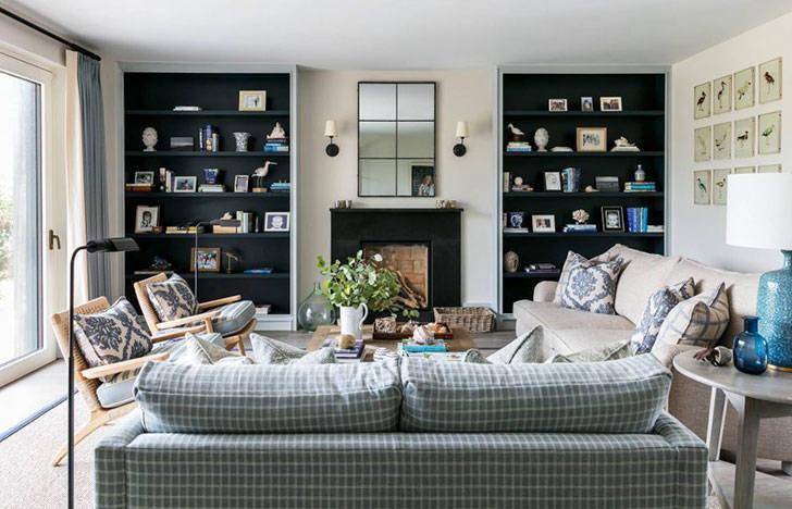 Оттенки синего и вид на океан: пляжный дом в Англии