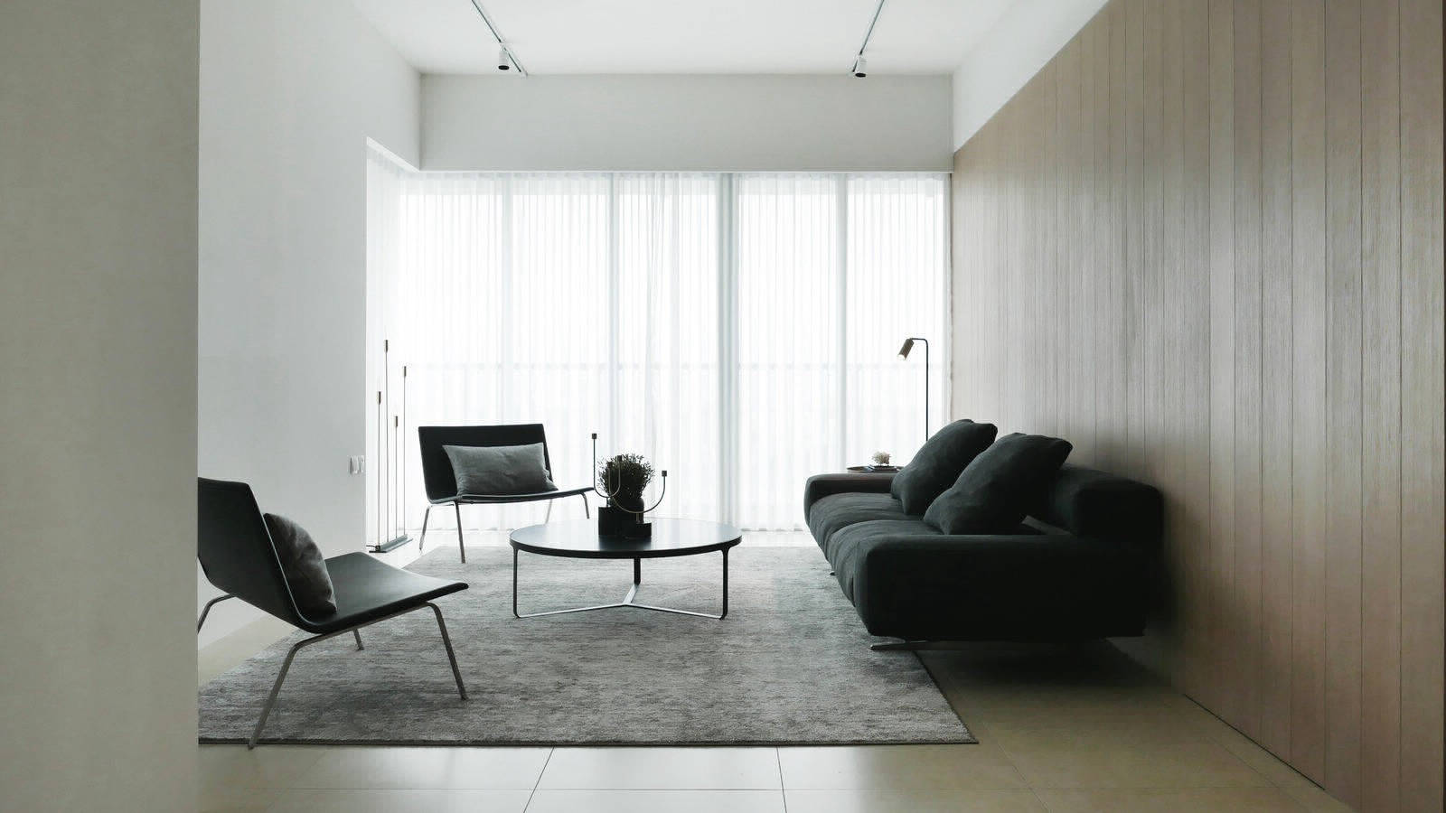 Музыка линий и поверхностей квартиры в Сингапуре