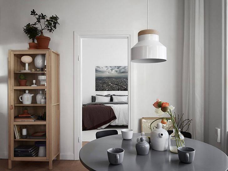 Яркая квартира с видом на залив в Швеции (56 кв. м)