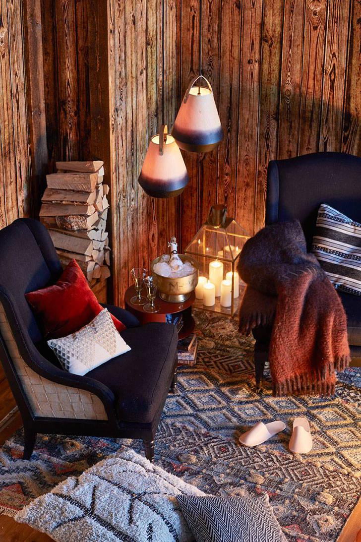 Теплый домик в горах