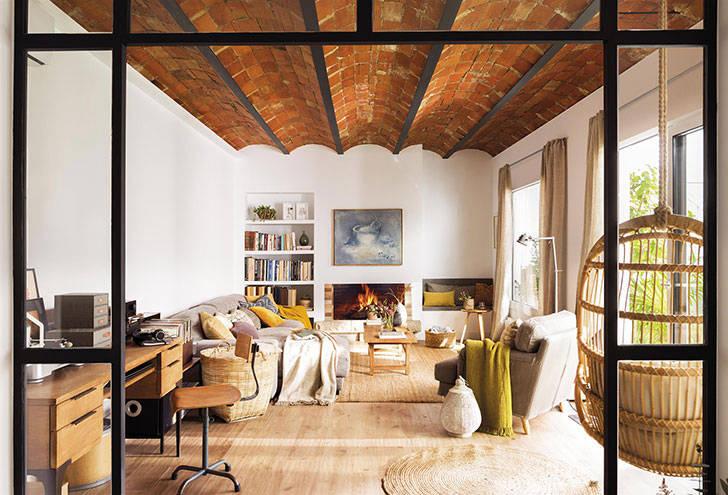 Как в загородном доме: просторная квартира в Барселоне