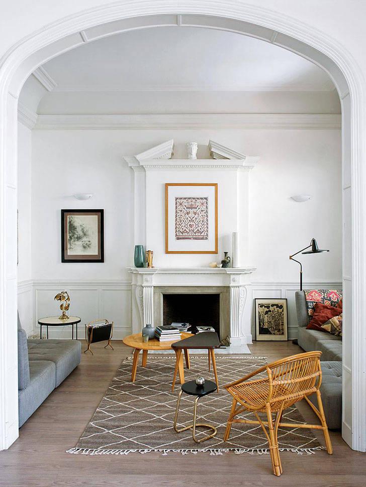 Модерн и современность: светлая квартира в Барселоне