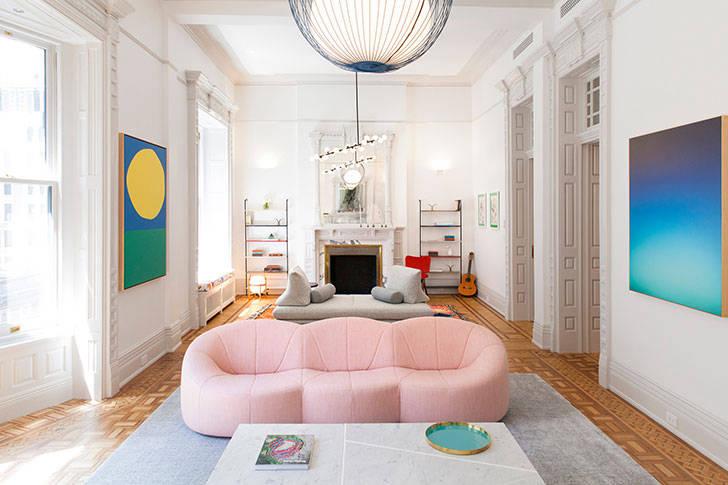 Красочные интерьеры и игривое настроение: апартаменты в историческом доме в Нью-Йорке