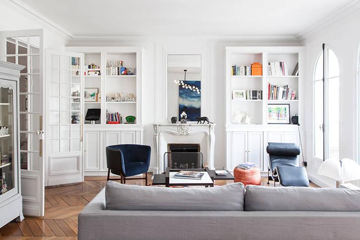 Очаровательная белая квартира в Париже