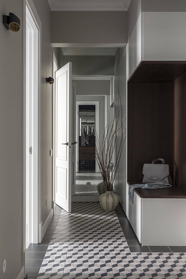 Приятная квартира в серых тонах (53 кв. м)