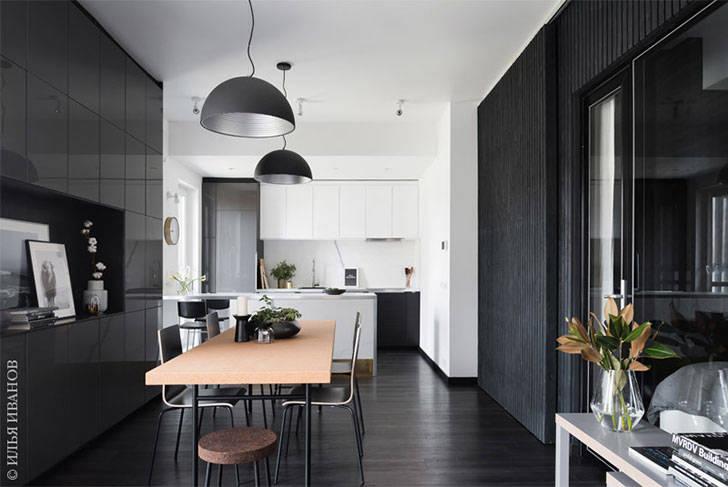 Стильная черно-белая квартира дизайнера (58 кв. м)