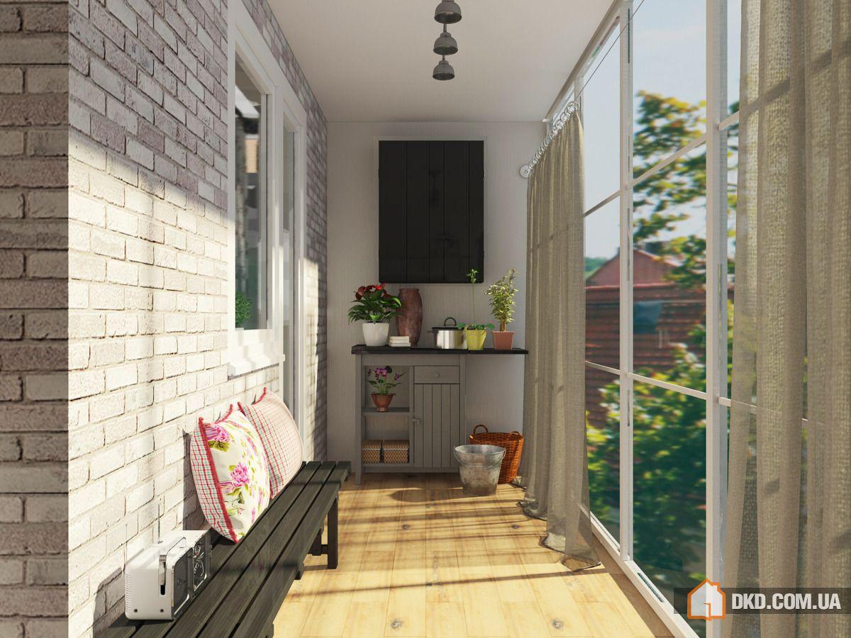 Интерьер белый балкон.