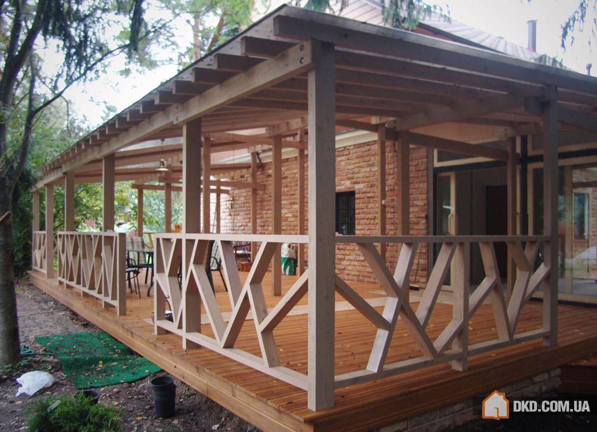 Террасы и веранды пристроенные к дому: открытые и закрытые к.