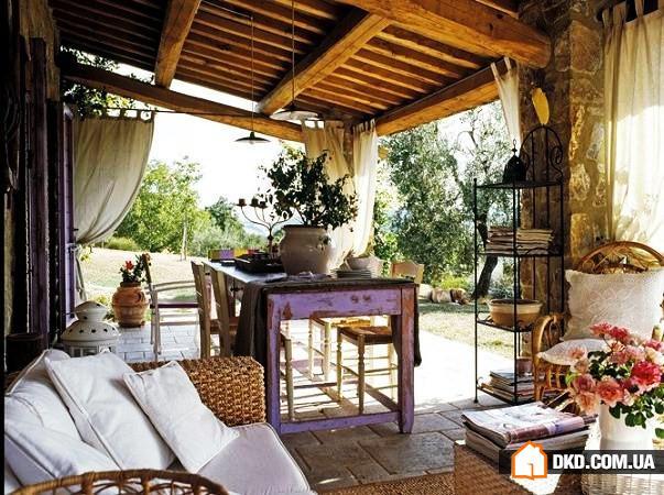 Дизайн веранды в стиле прованс и кантри