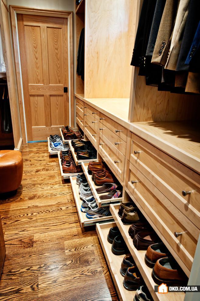 Полки для обуви в шкаф, разновидности с размерами, как сдела.