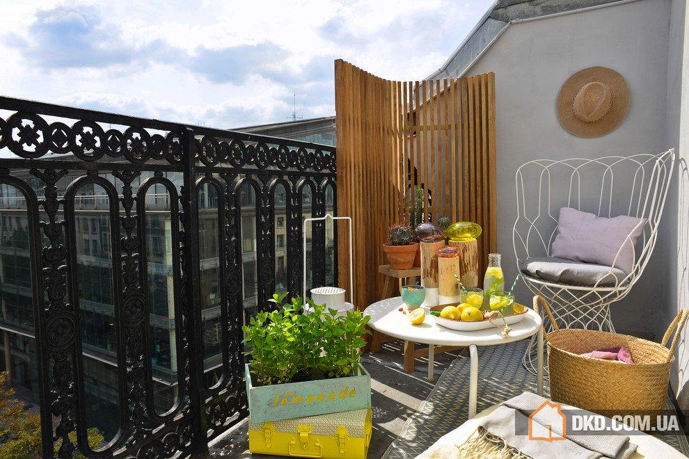 Paravent for the balcony - erikhansen.info.
