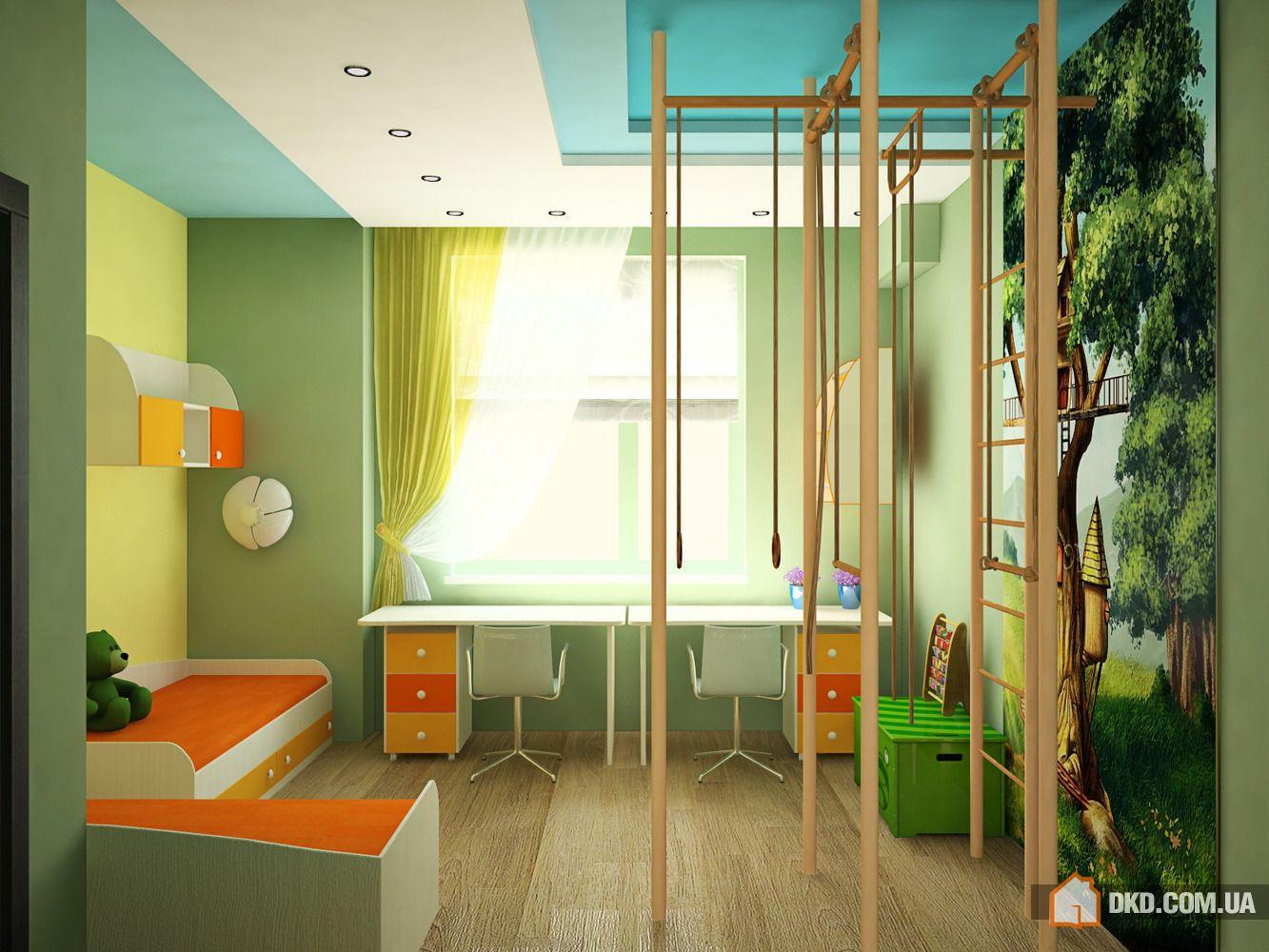 Проект: детская комната для двух детей, автор екатерина коло.