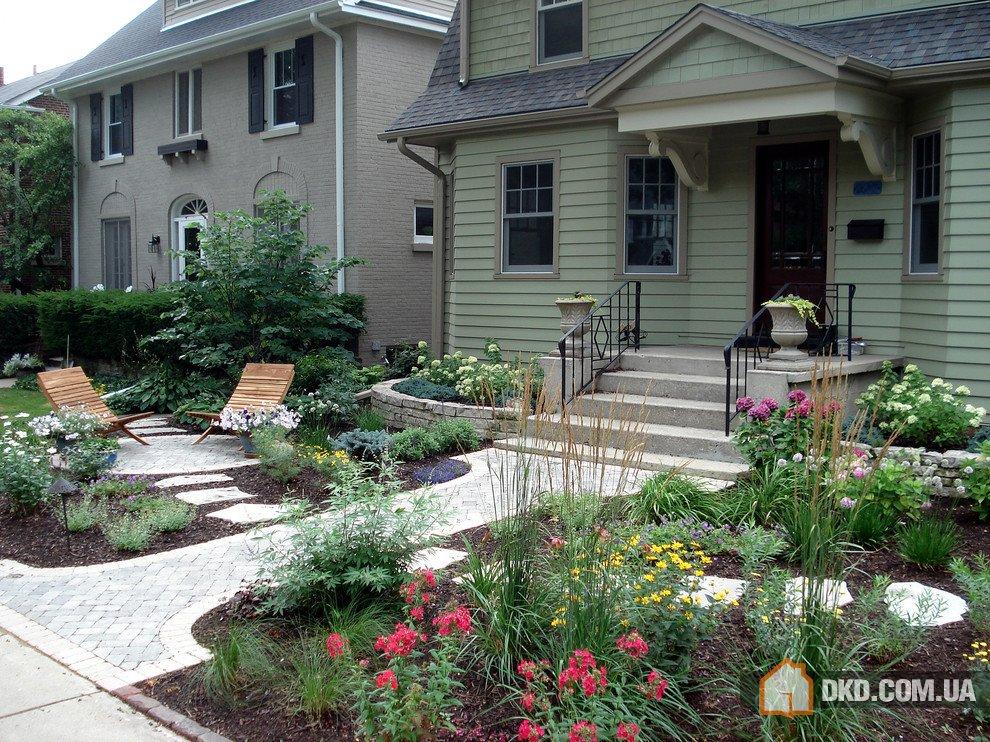 Ландшафтный дизайн двора деревенского дома своими руками
