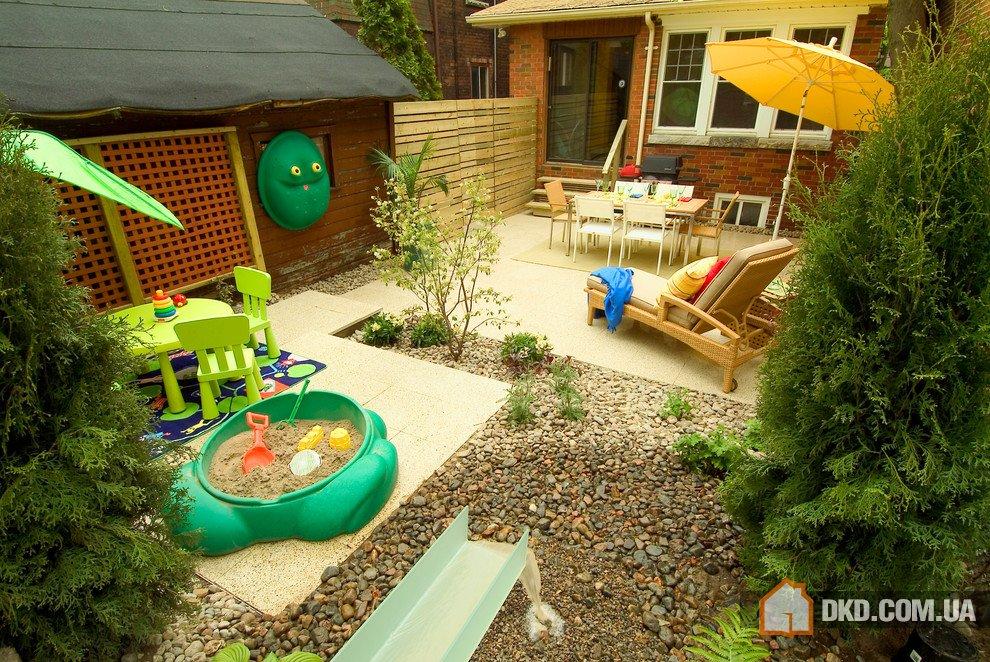 Ландшафт детских площадок своими руками