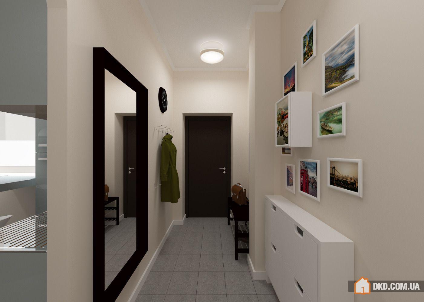 Коридор в трехкомнатной квартире дизайн в