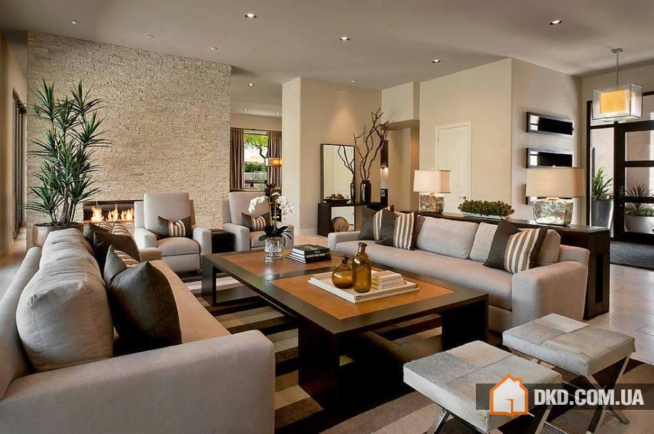 Long narrow living room layout