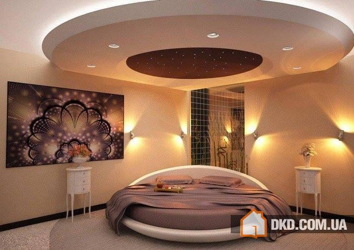 Down ceiling bedroom design