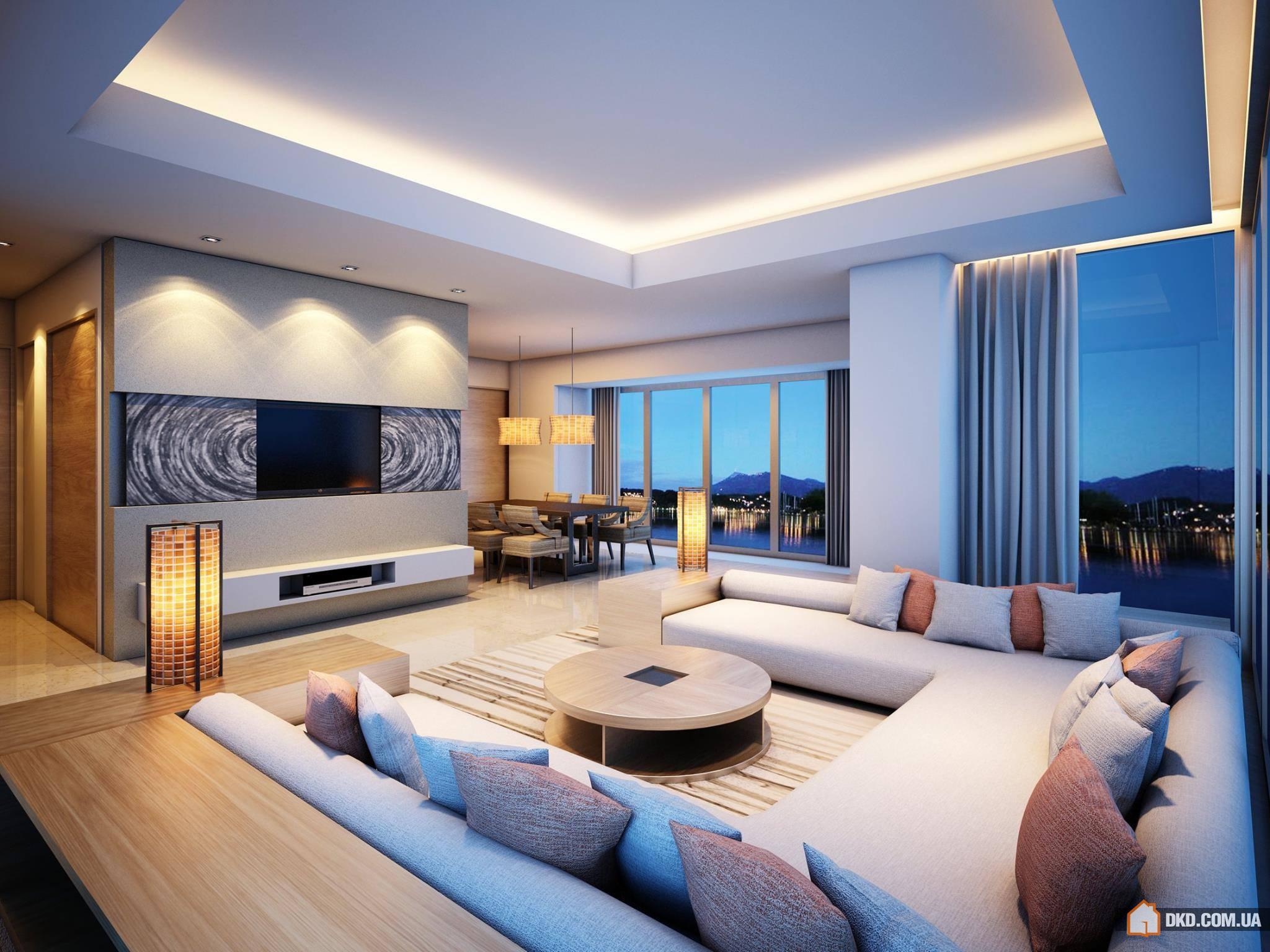 Прохладный и потрясающий дизайн гостинных