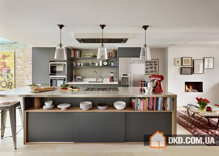 Современная кухня для всей семьи в Лондоне