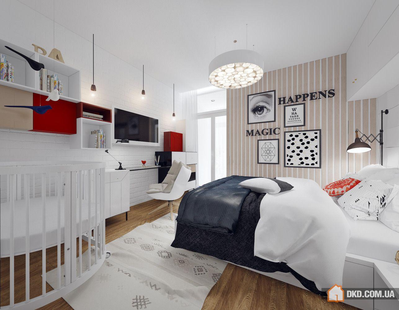 Интерьер комнаты для семьи с ребенком фото в современном стиле