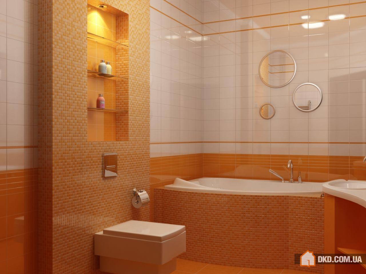 Ванная комната с нишей дизайн